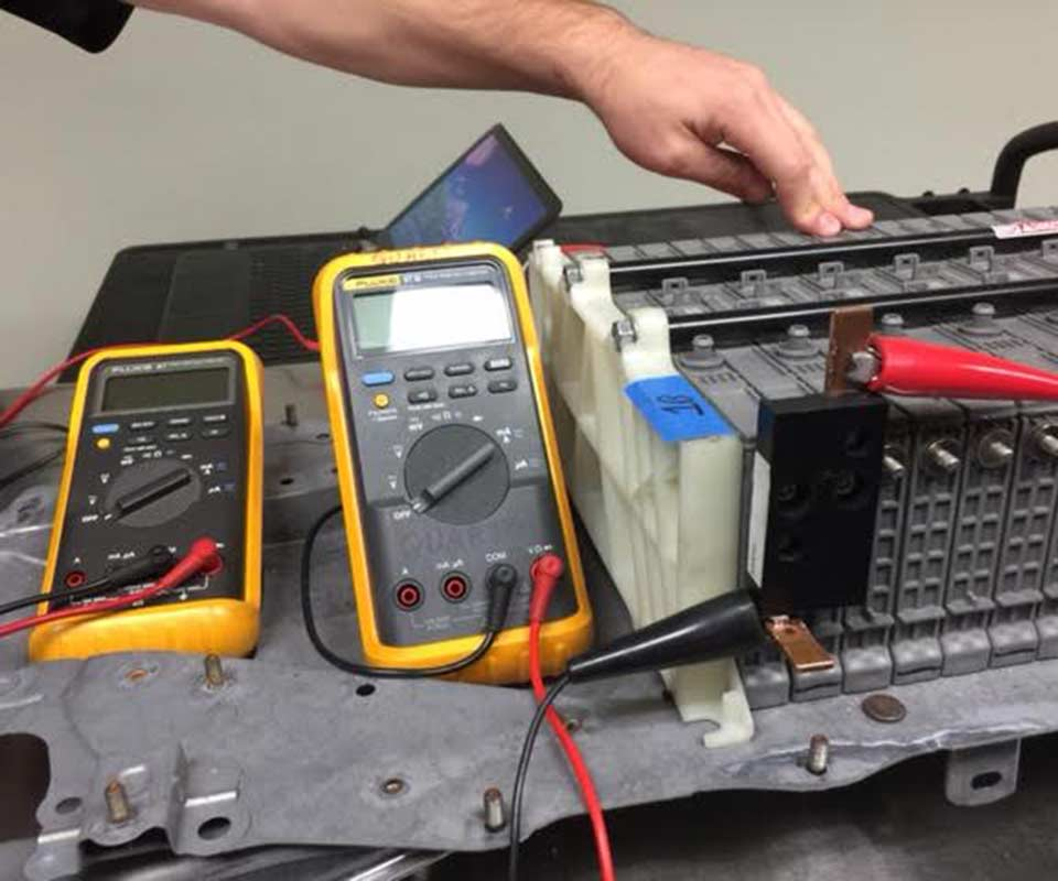 image of hybrid battery testing equipment